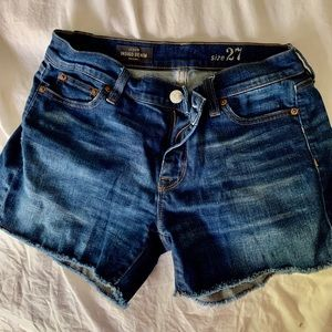 J. Crew cutoff jean shorts